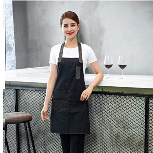 Zonster Küche Kochschürze für Frau Männer Chef Kellner Café-Shop Grill Friseur Schürzen Logo Gift Lätzchen Cooking Tools