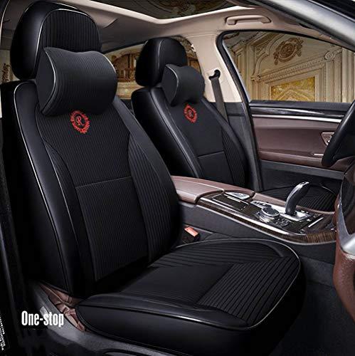 Balscw Cuscino 9D per seggiolino Auto, Deodorante al Carbonio di bambù, Rivestimento Auto Ecologico per Cuciture Senza Cuciture Adatto per la Maggior Parte delle Auto a Cinque posti, Black