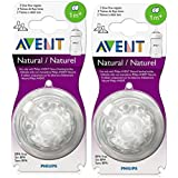 Philips Avent Natural Teat Slow Flow (1M+) - 2pkt (4 Pcs)
