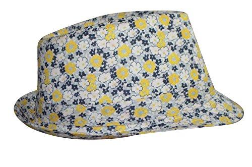 chapeau-trilby-liberty-tissu-a-fleurs-mixte-ete-jaune