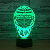 orangeww 3D LED Night Light/Pirate lampe magique Dumbo football vêtements tortue 7 couleurs changeantes Touch Night Light/enfants cadeau Rugby costume