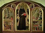 Leinwand-Bild 120 x 90 cm: 'The Blessed Agostino Novello Altarpiece, with four of his miracles, c.1328 (oil on panel)', Bild auf Leinwand