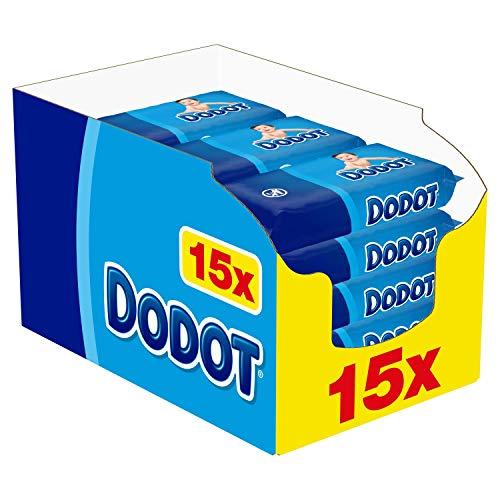 Dodot Toallitas para Bebé 15 Paquetes de 64 Unidades, 960 Toallitas