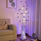 LIURONG LED-Stehlampe, Ländliche Persönlichkeit Vase Einfache moderne Wohnzimmer Schlafzimmer Boden Licht (ausgabe : Foot switch)