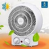 Aigostar Airwin White 33IEK - Radiador de aire caliente de 2000 watios en color blanco. Diseño...