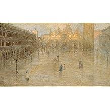 """Stampa artistica / Poster: Pietro Fragiacomo """"Piazza San Marco"""" - stampa di alta qualità, immagini, poster artistici, 95x55 cm"""