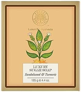 Forest Essentials Sandalwood and Turmeric Luxury Sugar Soap, 125g
