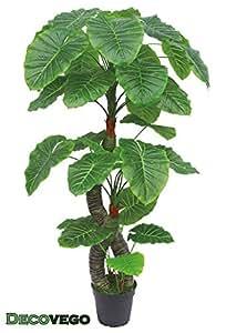 Arum taro plante artificielle artificiel plastique avec for Amazon plante artificielle