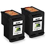 JARBO Remanufacturado HP 302 XL Cartuchos de tinta (2 Negro) Compatiable con HP DeskJet 1110 1115 2130 2132 3630 3632 3633 3635 HP OfficeJet 3830 3831 3832 4651 4652 4654 HP Envy 4520 4521 4522 4526 4527 4528