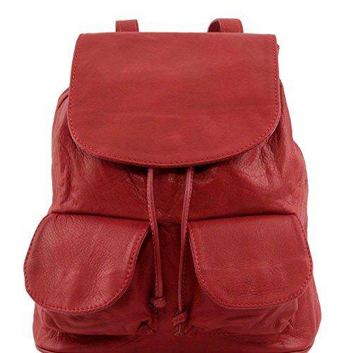 Tuscany Leather - Seoul - Sac à dos en cuir Petit modèle - Rouge