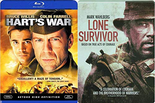rage Mark Wahlberg Steelbook Lone Survivor Exclusive + Hart's War Bruce Willis Blu-ray 2-Movie Bundle Double Feature Military Films ()
