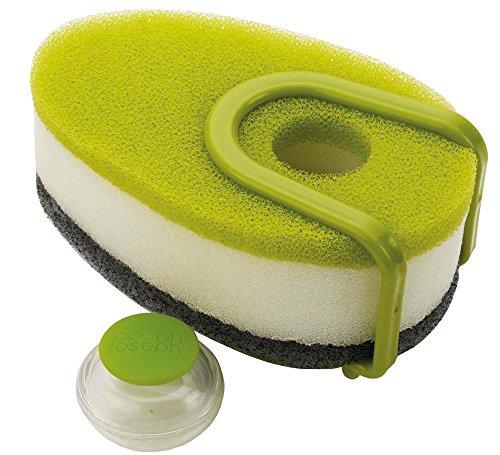 joseph-joseph-soapy-set-de-3-eponges-avec-capsule-de-produit-vaisselle-rechargeable-vert