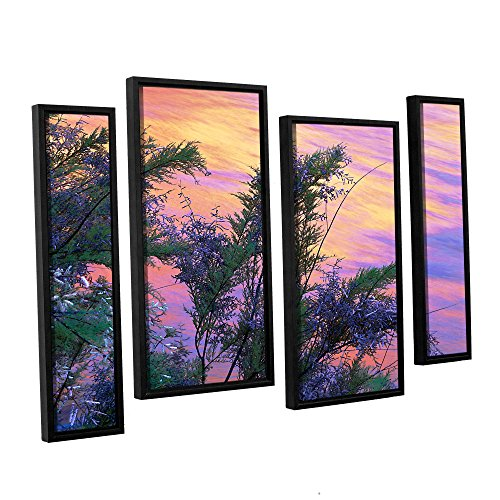 ArtWall Dean Uhlinger Wandbild mit Sandstein-Reflexionen, gerahmt, 4-teiliges Set 36x54 -