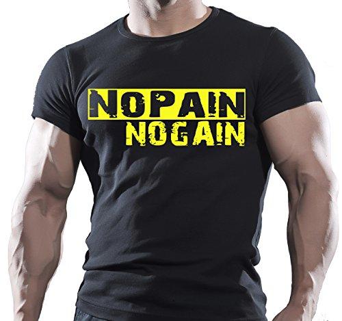 Gimnasio Negro Hombres de algodón T-Shirt–Artes Marciales Mixtas–Bodybuilding entrenamiento extrema WWE UFC negro amarillo XL