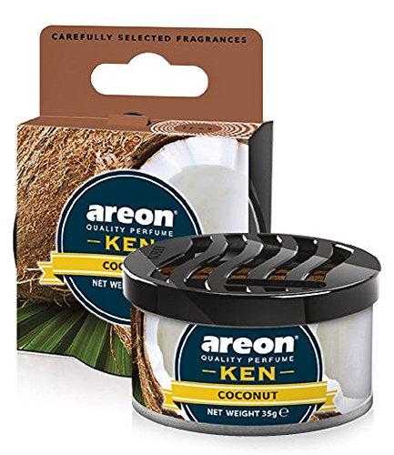 Areon Ken Deodorante Auto Cocco Dolce Tropical Ambiente Profumatore Contenitore Scatola Originale Profumo Interni Casa 3D ( Coconut Confezione x 1 )