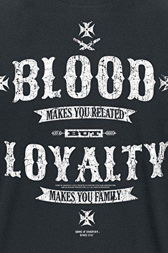Sons of Anarchy Blood Loyalty T-Shirt Schwarz Schwarz