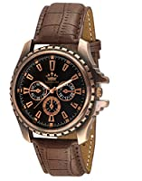 LimeStone Round Casual Octane Originals Analog Brown Strap & Black Dial Men's / Boy's Wrist Watch - LS2623
