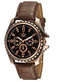 #7: LimeStone Round Casual Octane Originals Analog Brown Strap & Black Dial Men's / Boy's Wrist Watch - LS2623