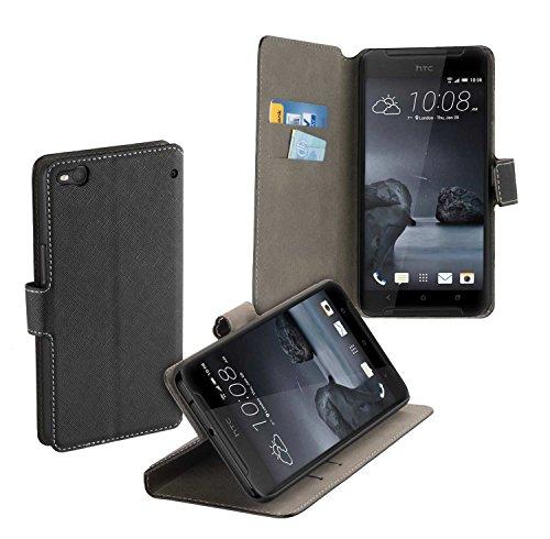 yayago Book Style Tasche für HTC One X9 Hülle mit Standfunktion Schwarz