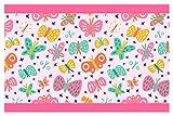I-love-Wandtattoo Bordo Autoadesivo Farfalle Colorate la Camera dei bambinistripes Carta da parat