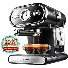QWE Máquina de Café Italiana Máquina de Café Semiautomática Máquina de Café Exprés ...