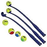 VOSS.PET Set mit 3 Bällen + 6 Tennisbällen, Ballanker für Hunde, Jette Bälle
