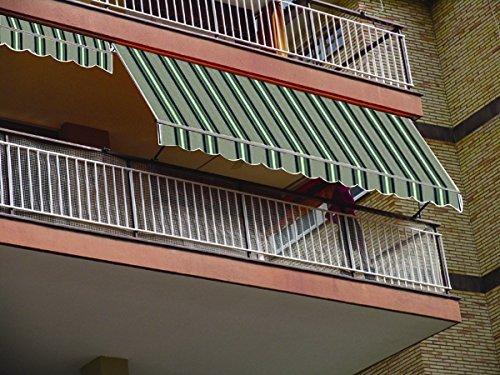 Tenda da sole a caduta per balcone cm 200x250 h struttura in alluminio
