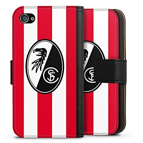 Apple iPhone X Silikon Hülle Case Schutzhülle SC Freiburg Fanartikel Fußball Sideflip Tasche schwarz