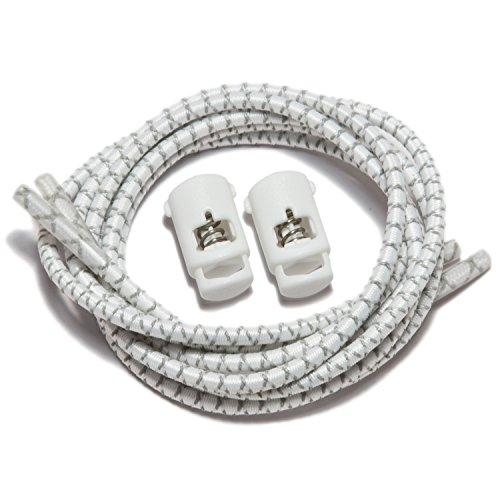 Speedlaces Ibungee - Lacets Blancs Réfléchissants