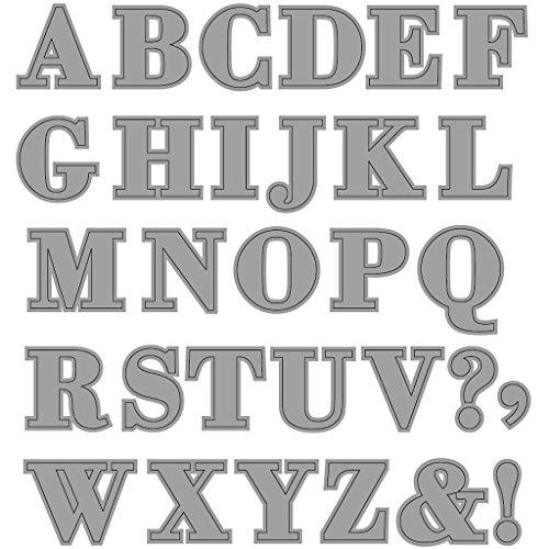 Fustella, misura 12,5x12,8 cm, alfabeto, 1pz