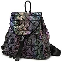 1e38d2968f402 Frauen Rucksack Feminine geometrische Plaid Pailletten weiblichen Rucksäcke  für Mädchen im Teenageralter mit Kordelzug holographische Rucksack