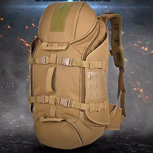 Rucksack Schulter camouflage Rucksack männlichen und weiblichen Outdoor wasserdicht Bergsteigen Tasche 65 * 32 * 20 cm, grau 65L CP65L
