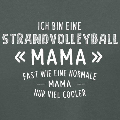Ich bin eine Strandvolleyball Mama - Damen T-Shirt - 14 Farben Dunkelgrau