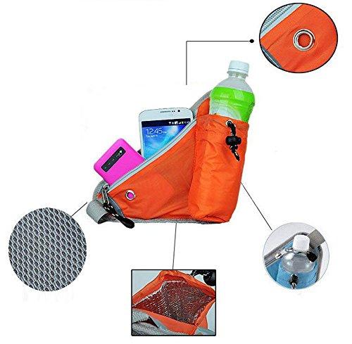 Chytaii Herrn Bergsteigen Gürteltaschen Outdoor-Sport Tasche mit Flaschenhalter für Laufen ,Wandern, Bergsteigen,Fahrradfahren, klettern grün