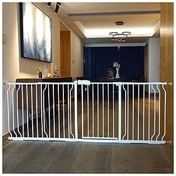 YONGYONG-Guardrail Pet Chien Clôture Enfants Intérieur De Sécurité Isolation Rampe Clôture Chien Porte Bar Escaliers Bouche Teddy Chien Clôture 64-265cm (Couleur : B, Taille : 83-89cm)