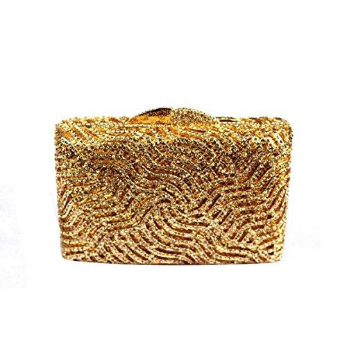 Handtasche Kupplung Hand Weiblich Hartbox B Luxus w7I6q1H
