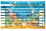 PrimeStick Schild PVC Belohnungstafel Belohnungskalender Wasserwelt Fische 55x35cm #158