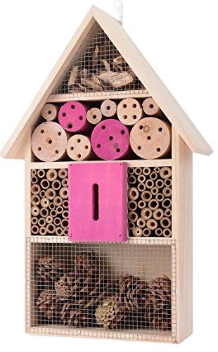 Grand Hôtel à insectes Bee Bug Maison Hôtel Shelterbox rose