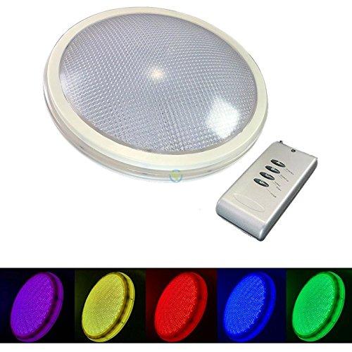 PAR56 RGB LED Leuchte Mit Fernbedienung Und Farbwechsel Ersatz Unterwasserscheinwerfer Poollampe Poolleuchte Schwimmbadscheinwerfer Lampe Pool 2 Polig