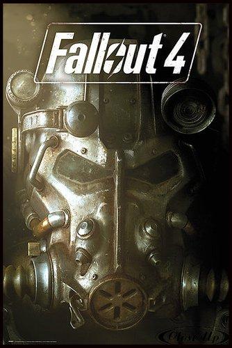 Fallout 4 Poster Maske (93x62 cm) gerahmt in: Rahmen schwarz
