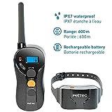 PetTec Addestratore Remoto, Remote Vibra Trainer Advance, Impermeabile con 600m di Portata, Collare educativo con Vibrazione o Suono Tramite Telecomando Anti-abbaio IPX7