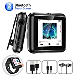 Bluetooth MP3 Player 8GB mit Armband Clip und Touchscreen Olycism Mini Sport Musik Player FM Radio Diktiergerät mit Kopfhörern E-Book Video Player für Sport Joggen Speicher bis zu 128 GB möglich
