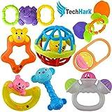 Techhark® Rattles and Teether for Babies, Set of 8 Pcs - 7 Pcs