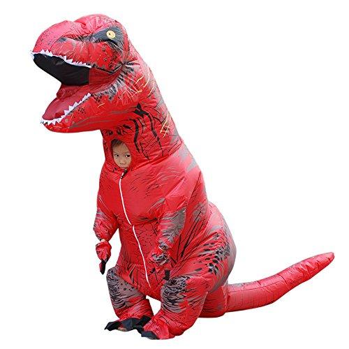 Dinosaurier Blow Kostüm Up - JJAIR Aufblasbares Dinosaurier Kostüm Halloween Blow Up Kostüme Erwachsene/Kinder (Rot),Kid