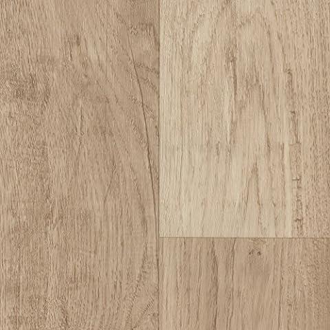 PVC CV Vinyl Bodenbelag Auslegware Holzoptik Landhausdiele Eiche weiß 200, 300 und 400 cm breit, verschiedene Längen, Variante: 5 x 3