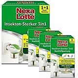 Nexa Lotte Insektenschutz 3 in 1 Set gegen Mücken Fliegen + 3 x Nachfüllpack