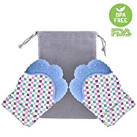 Foxom Teething Glove ha un certificato FDA, privo di BPA, quindi non devi preoccuparti di tossine e prodotti chimici nocivi. Il silicone è anche resistente alle muffe e ai batteri ed eccezionalmente resistente.La scelta ideale per i massaggi ...