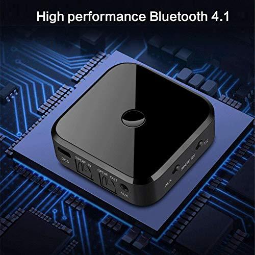 starter Bluetooth Empfänger und Sender - 2 in 1 Bluetooth Audio Empfänger 3,5 mm Aux Adapter, aptX Niedrige Latenz für TV Home Car Stereo System Wireless Sender Empfänger (Car-audio-stereo-sender)