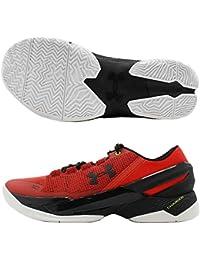 Under Armour Men s Curry 2 Low Basketball Shoe Rocket Red Black 9.5 D(M 341030af28f