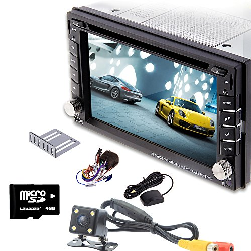 Rear Camera Included Ouku 2015 New Win 8 UI Design Model 6.2-Inch Double-2 DIN In Dash Car DVD Player Touch screen LCD Monitor with DVD/CD/MP3/MP4/USB/SD/AMFM/RDS Radio/Bluetooth/Stereo/Audio and GPS Navigation SAT NAV Head Deck Tape Recorder Wall Paper exchange HD:800*480 LCD+Windows 8 UI+Free GPS Navigation Antenna+Free 4GB TF Map Card+Official Kudo GPS Map+Free Backup Parking Camera  available at amazon for Rs.26349